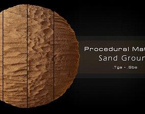 Procedural Sand Material 4 Variations 3D model