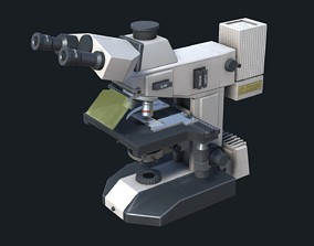 Lab Microscope 3D model game-ready