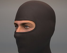 Black Balaclava mask 3D asset game-ready