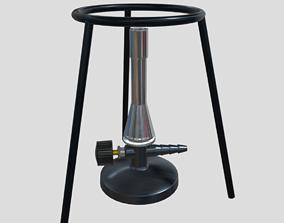 3D asset Bunsen Burner