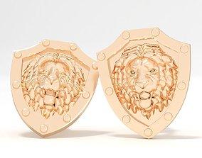 lion Lion cufflinks 3D print model