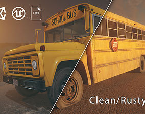 3D asset HQ Retro School Bus