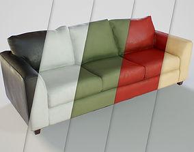 PBR Customizable Sofa 3D asset game-ready