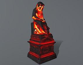 3D asset low-poly statue 1