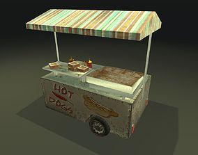 Game Ready Food Cart 3D asset