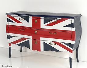 Commode Union Jack 3D