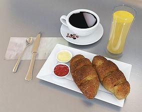 3D asset - Breakfast Set -