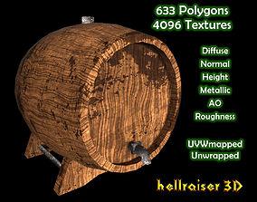 Wine Cask - Textured 3D model