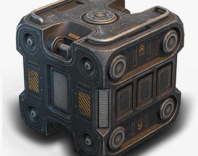 Sci Fi Box Low Poly 3D asset