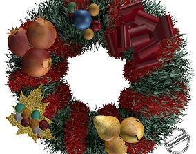 3D Christmas wreath 01