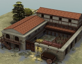 3D model Roman Villa