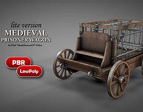 3D asset Medieval Prisoner Wagon LITE