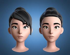 3D model Cartoon Girl Head