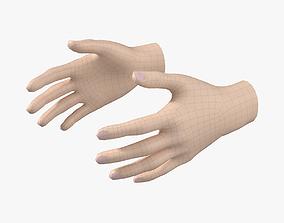 3D asset Female Hand Base Mesh 03