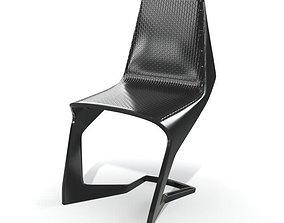 hard Modern Black Chair 3D model