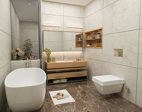 3D model interior-design Bathroom scene