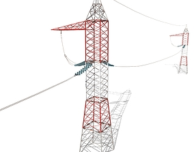 3D model Electricity Pole 30