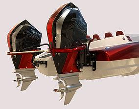 3D Mystic Powerboat C3800 RED
