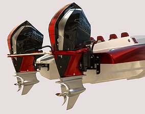 Mystic Powerboat C3800 RED 3D model