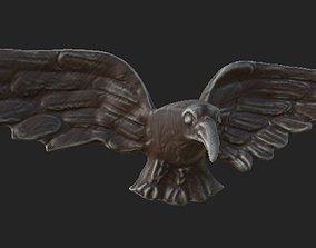 3D asset Eagle wooden