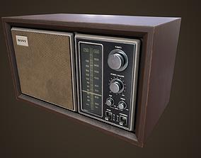 Old vintage Radio 3D model