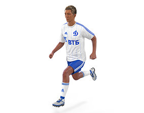 rigged Soccer Player Dynamo Rigged 3D Model