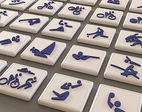 Sport pictogram pack - olympic - 3D asset