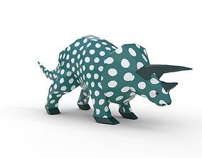 3D model VR / AR ready Dinosaur Triceratops