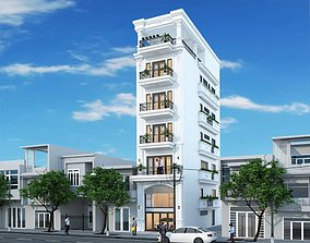 exterior animated Exterior House design 3d model
