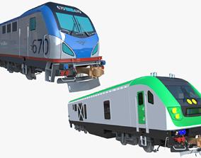 Locomotives Siemens ACS-64 and SC-44 3D