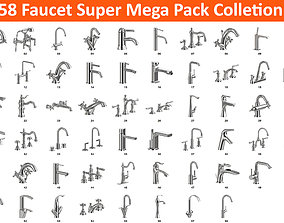 3D model 58 Faucet Super Mega Pack Collection