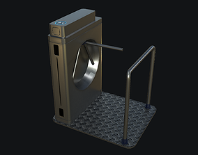 Security Gate PBR 3D asset game-ready