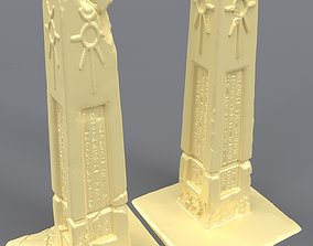 Necron obelisks Warhammer 40000 3D print model
