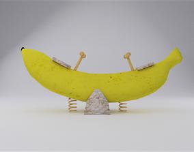 3D asset Banana Seesaw