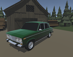 3D model automotive Lada 2106 with custom parts - Low poly