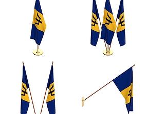Barbados Flag Pack 3D