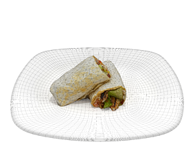 realtime shawarma Low-poly 3D model