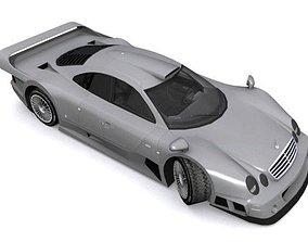 Mercedes-Benz CLK-GTR 3D asset