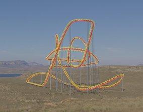 Rollercoaster 3D asset realtime