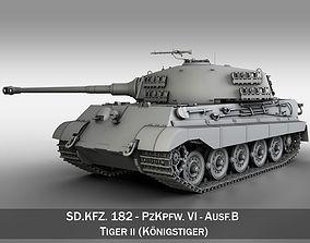 Panzerkampfwagen VI - Ausf B - King Tiger 3D model