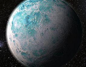 Frozen planet 3D asset