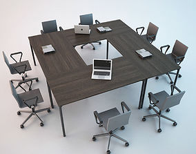 Conference Chair and Table 01 3D