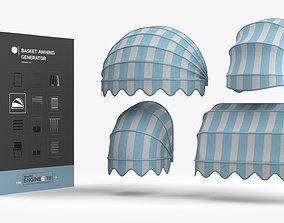Basket Awning Generator HDA 3D asset