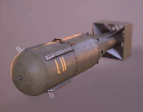 Little Boy Atomic Bomb 3D asset