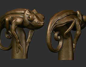 Cane chameleon 3D printable model