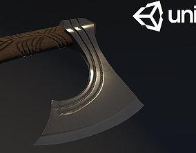 Viking style battle axe 3D asset