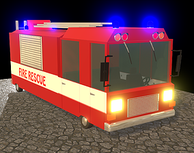 fire-rescue 3D model Fire rescue car