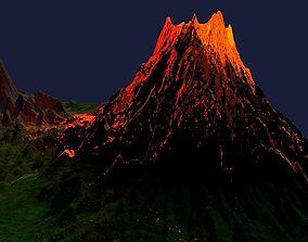 Lava Volcano Eruption 3D model