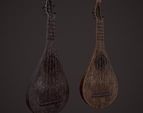 Medieval Gittern 3D asset