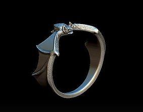 3D print model bat ring